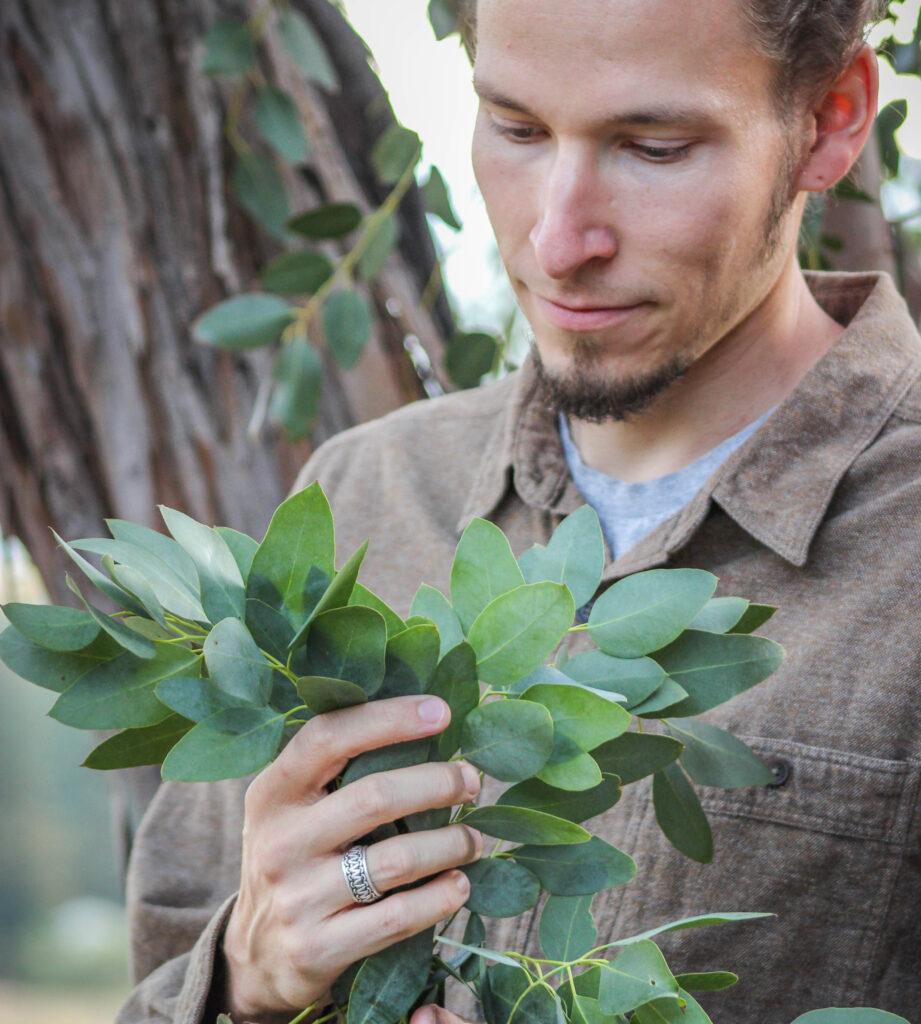 Evan Sylliaasen With Eucalyptus